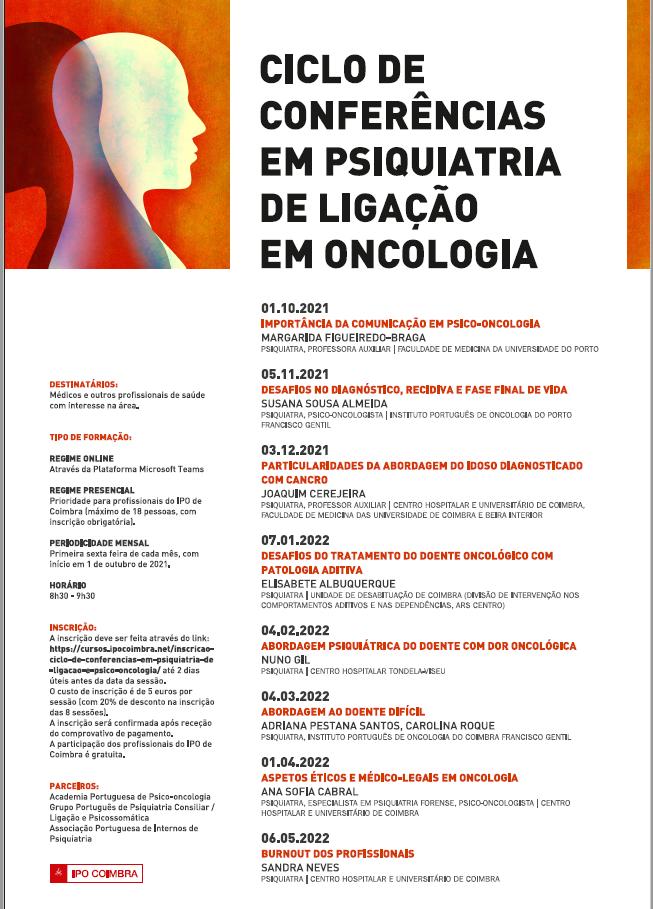imagem do post do 4190Ciclo de Conferências em Psiquiatria de Ligação em Oncologia